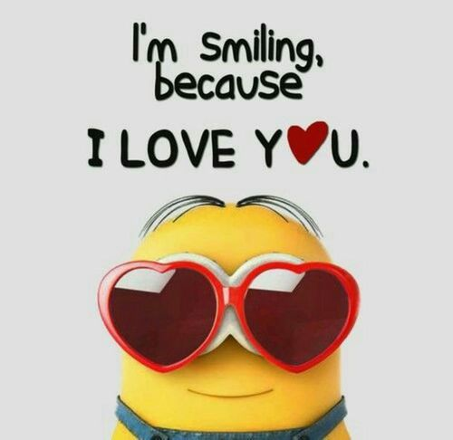 joyful love minion