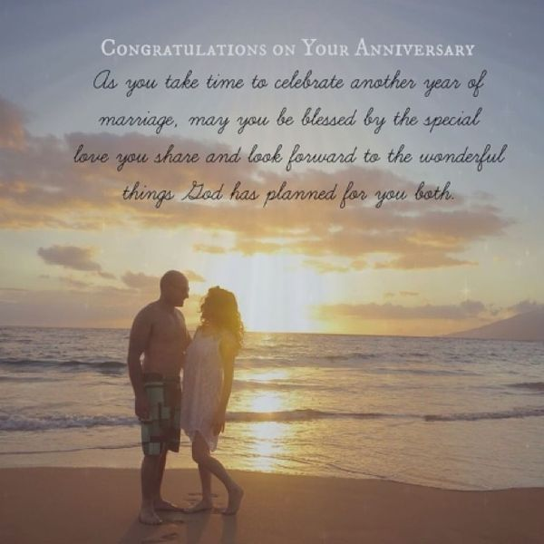 couple on the beach at sunset with quote