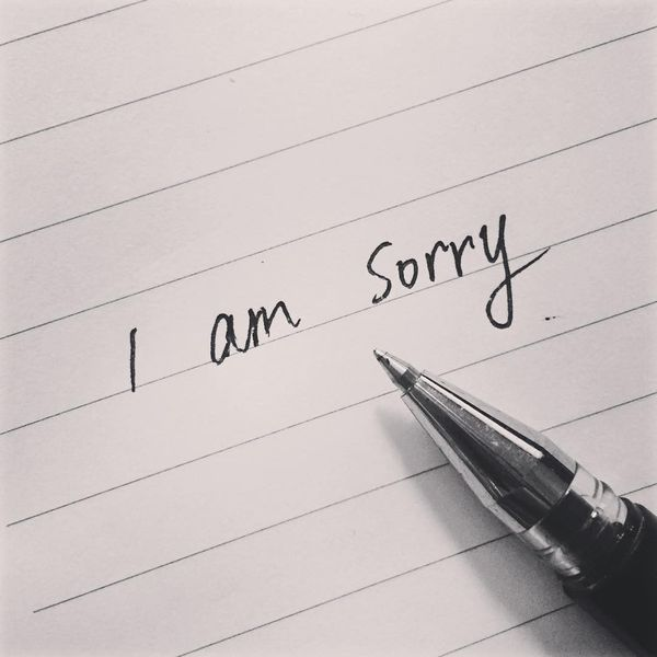 Simple Sorry Message
