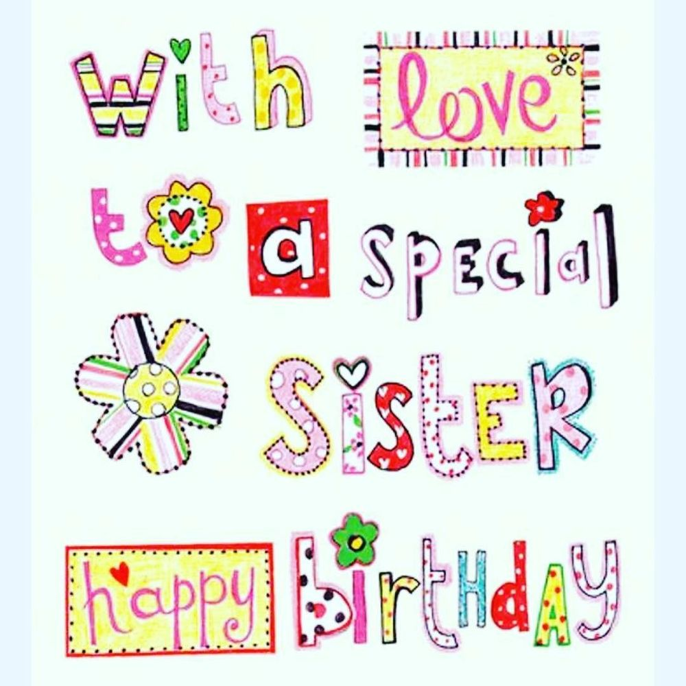 Happy Birthday Sister Quotes Birthday Wishes for My Sister – Text for Birthday Card