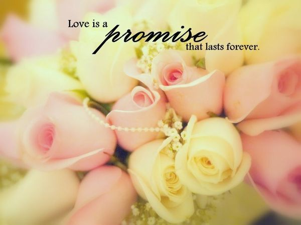 love is a promise that lasts forever