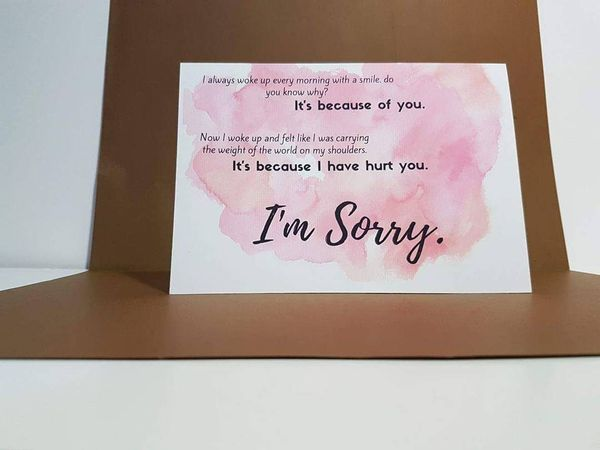 Sorry Messages For Girlfriend On Card  Apology Card Messages