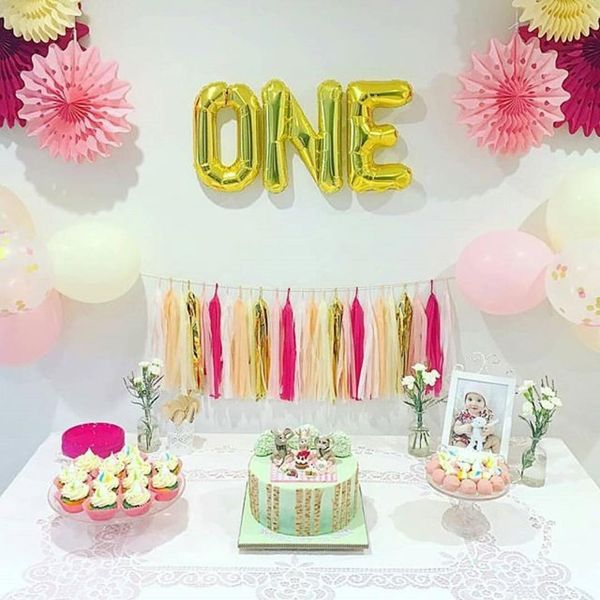Happy 1st birthday quotes best 70 wishes for baby and parents happy 1st birthday table with cakes bookmarktalkfo Image collections