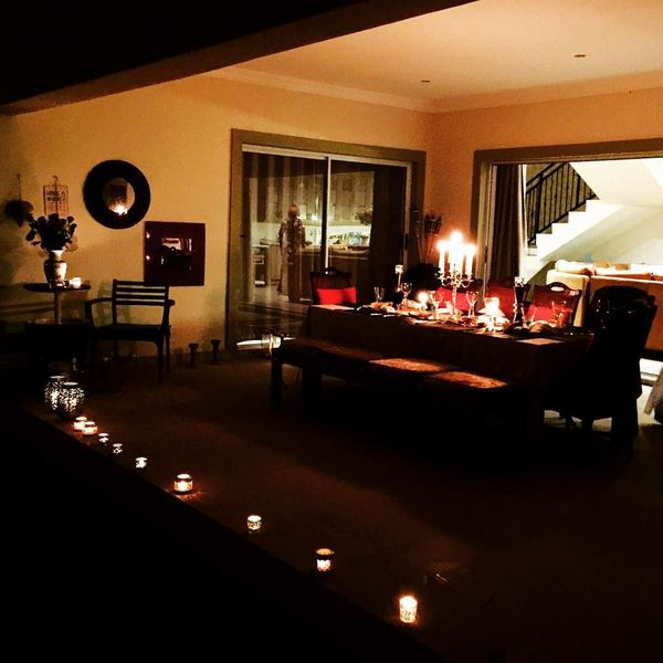 romantic atmosphere in the house
