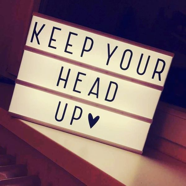 Never Give Up Quotes Inspirational Keep Your Head Up Images