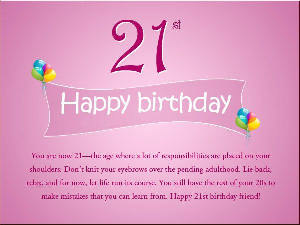 Inspirational birthday quotes and wishes with pictures happy 21st birthday text messages cards bookmarktalkfo Images