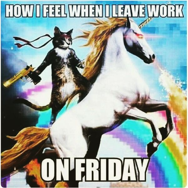 How i feel when i leave work on friday