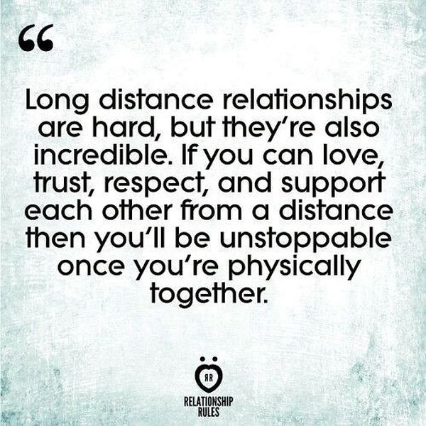 Long Distance Relationships Are Hard.