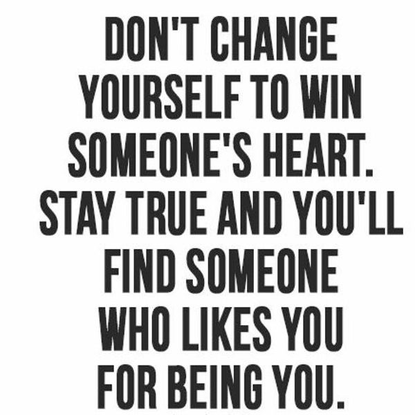 Image of: Smile Dont Change Yourself To Win Someones Heart Sweety Text Messages Cute Short Love Quotes For Her And Him