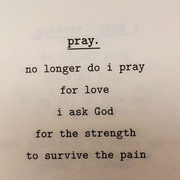 No longer do i pray for love...