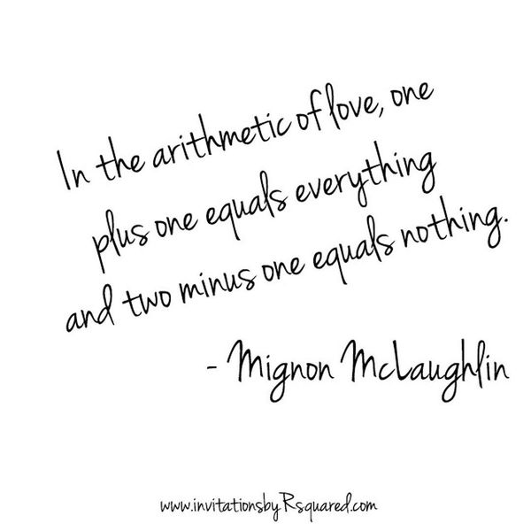 In The Arithmetic Of Love One Plus Equal Everything