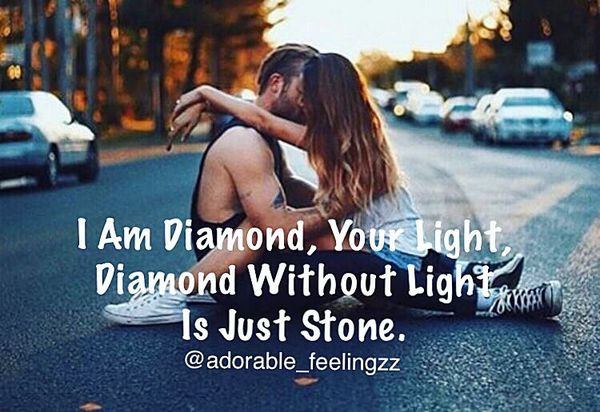I Am Diamon, Your Light, Diamond without Light Is Just Stone.
