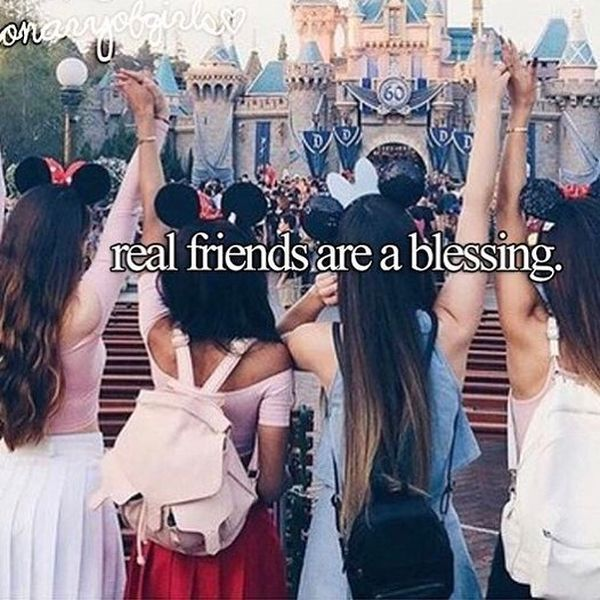Real friend are a blessing.
