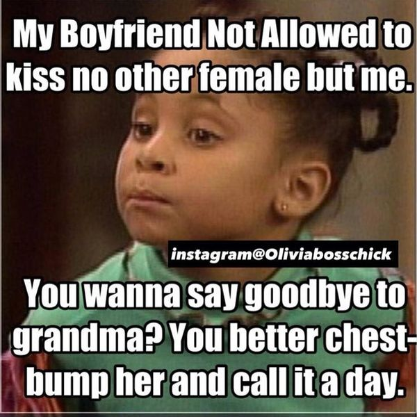 My Boyfriend Not Allowed to Kiss no other Female But Me.