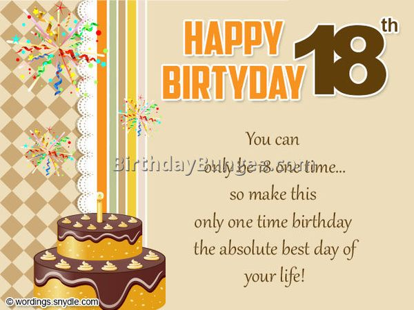 Happy 18th Birthday Quotes And Wishes For Son And Daughter From Parents