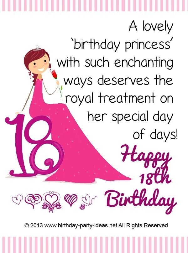 18th Birthday Card Greeting Ideas You Will Find Also A Lot Of Images For Perfect So Pick Up The Best Quotes Your Beloved Person