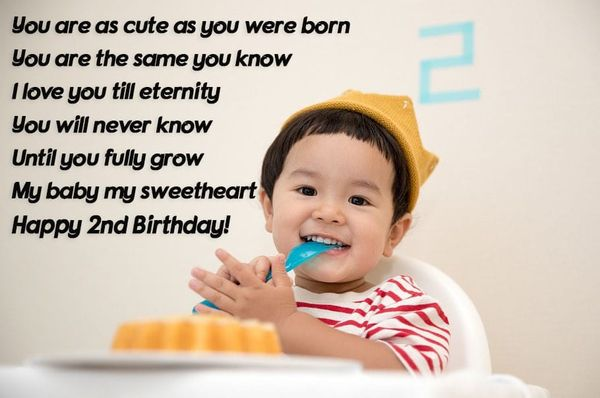 Happy 2nd Birthday To My Son Perfect Card