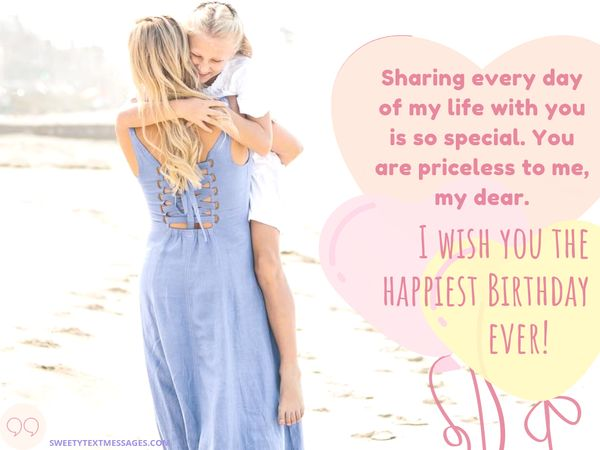 Happy Birthday Wishes For Daughter From Mom