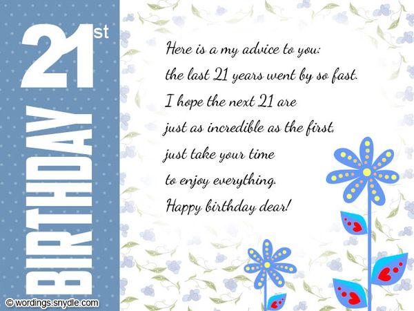 Gentle Images of 21st Birthday Cards