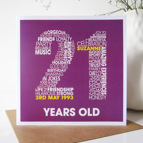 Remarkable Images Of 21st Birthday Cards