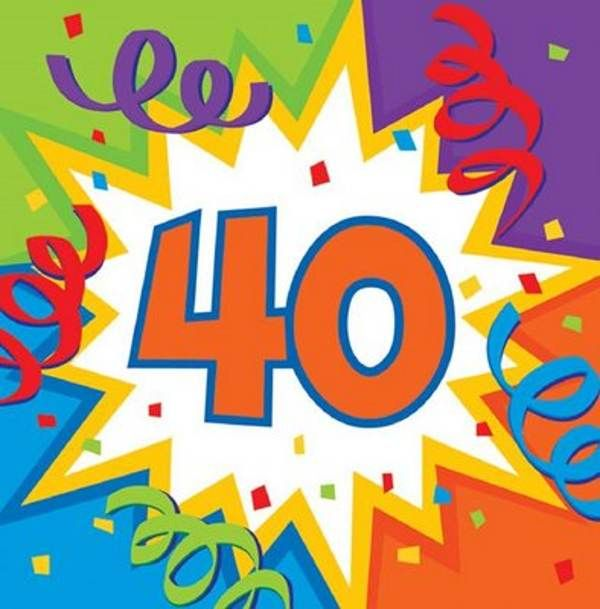 Magnificent 40th Birthday Images Graphics Free