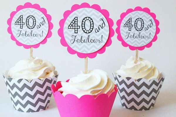 Outstanding 40th Birthday Images for Women
