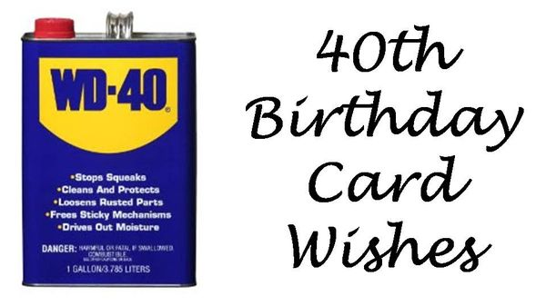 Jolly Funny 40th Birthday Sayings