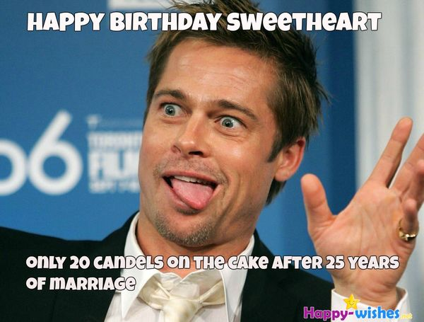 Awesome Happy Birthday Meme With Humor for Wife