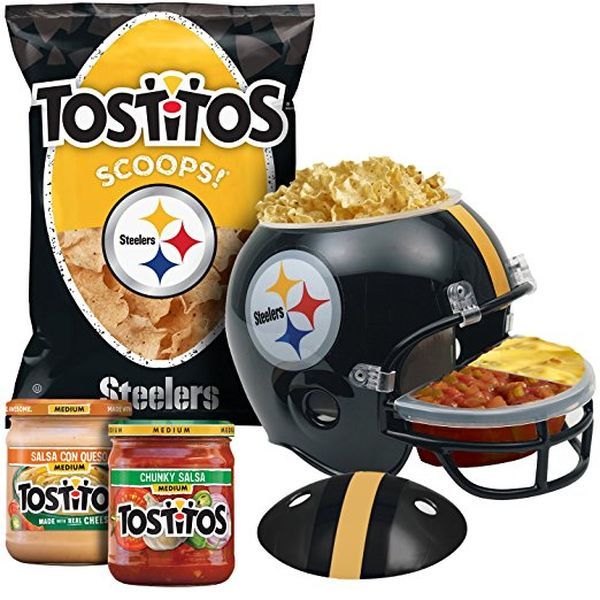 Frito-Lay Ultimate NFL Pittsburgh Steelers Chips, Dips, & Football Dip Helmet Party Box