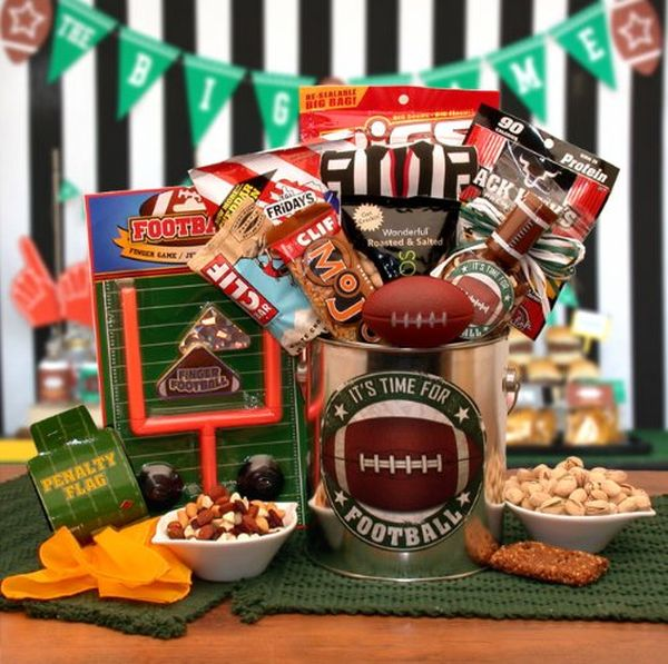 Football Themed Gift Pail