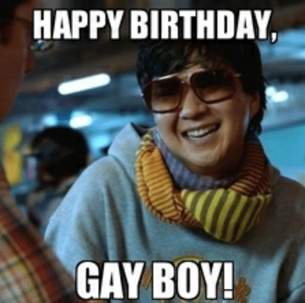 Cute Cool Happy Birthday Meme for Gay