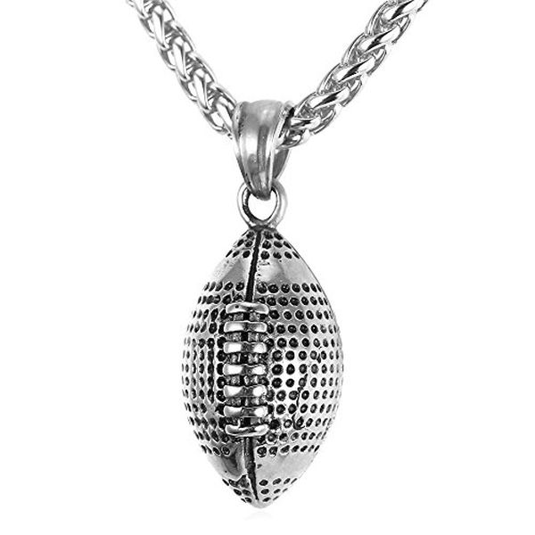 Cool Rugby Pendant Necklace Men Jewelry