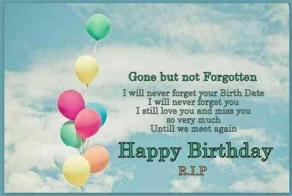 emotional happy birthday in heaven sayings on images