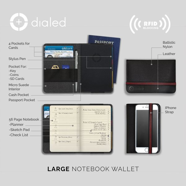 Mini Dialed Notebook Wallet