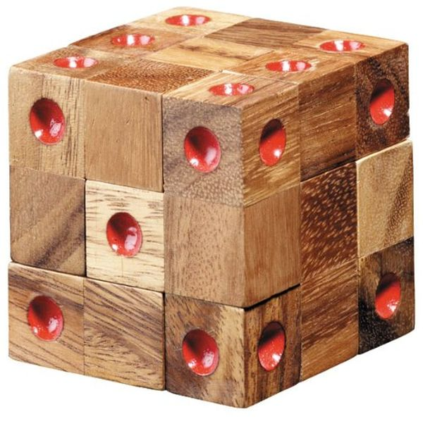 Wooden Domino Puzzle Cube for Adults