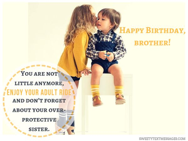 Happy Birthday Little Brother Message