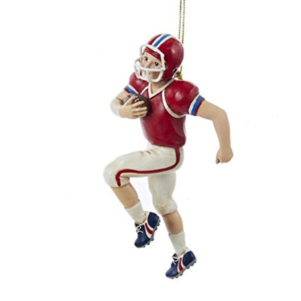Kurt Adler Football Boy Christmas Ornament