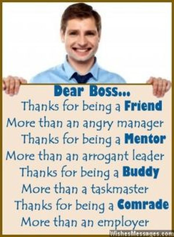 how to say thanks to your boss