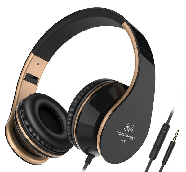 Foldable Headphone with Microphone and Volume Control