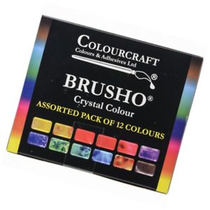 Brusho Crystal Assorted Pack of 12 Colors