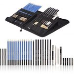 40-Piece Drawing Pencils and Sketch Set