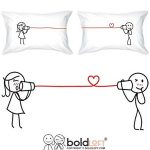 BoldLoft Say I Love You Too Couple Pillowcases