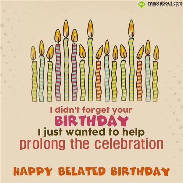 Cool Ideas of Happy Belated Birthday Images for Her 1
