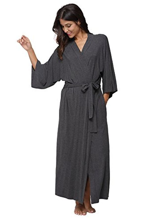 Soft Sleepwear Modal Cotton Wrap Robe