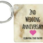 2 Years Together Keychain