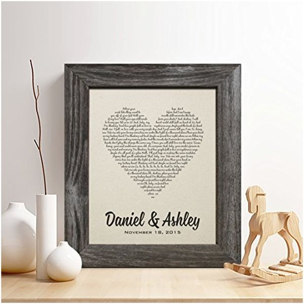 Personalized 2nd Anniversary Cotton Print