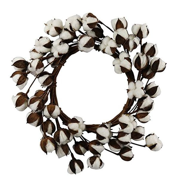 Cotton Swirl Wreath