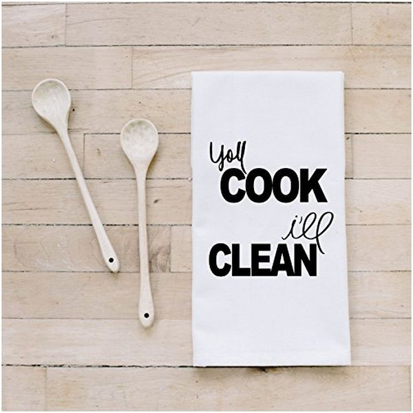 You Cook I'll Clean Handmade Cotton Tea Towel