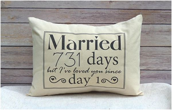 Married 731 Days Pillow