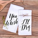 Kitchen Towel Gift Set You Wash, I'll Dry